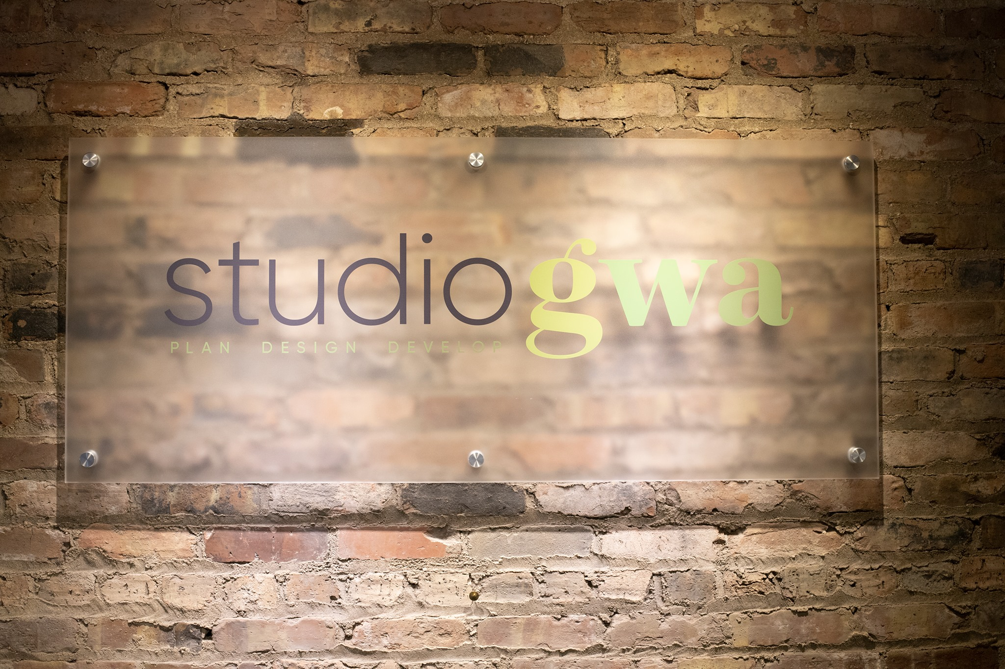 New logo at the Studio GWA office