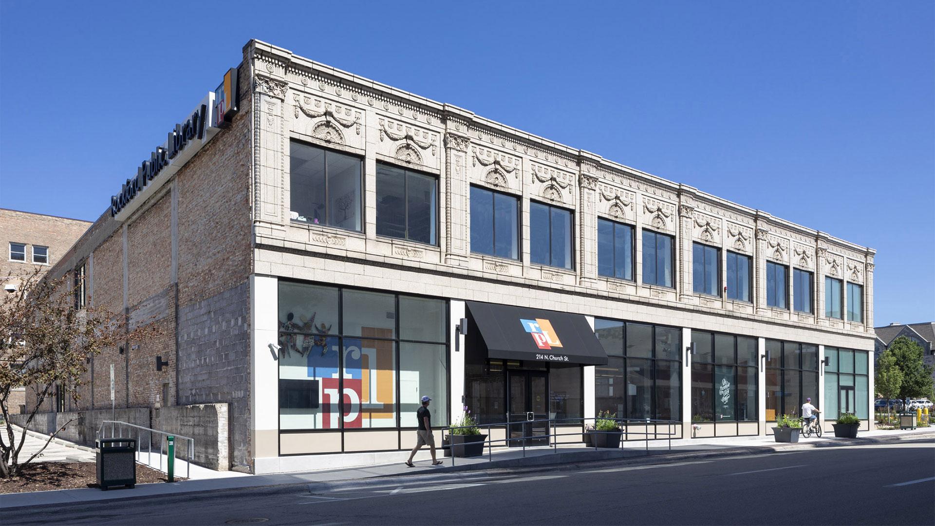 Design rendering - Rockford Public Library Hart