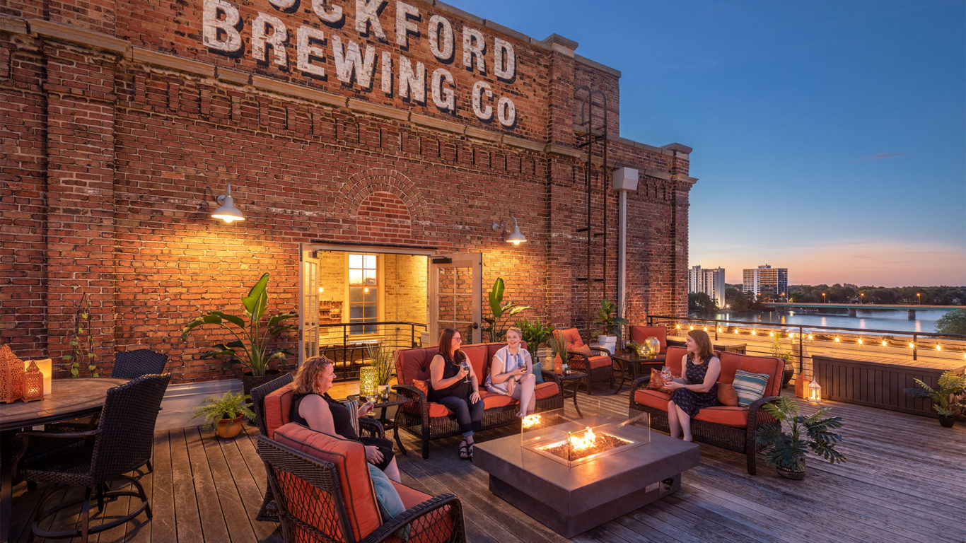 Historic preservation and design - Prairie Street Brewhouse deck