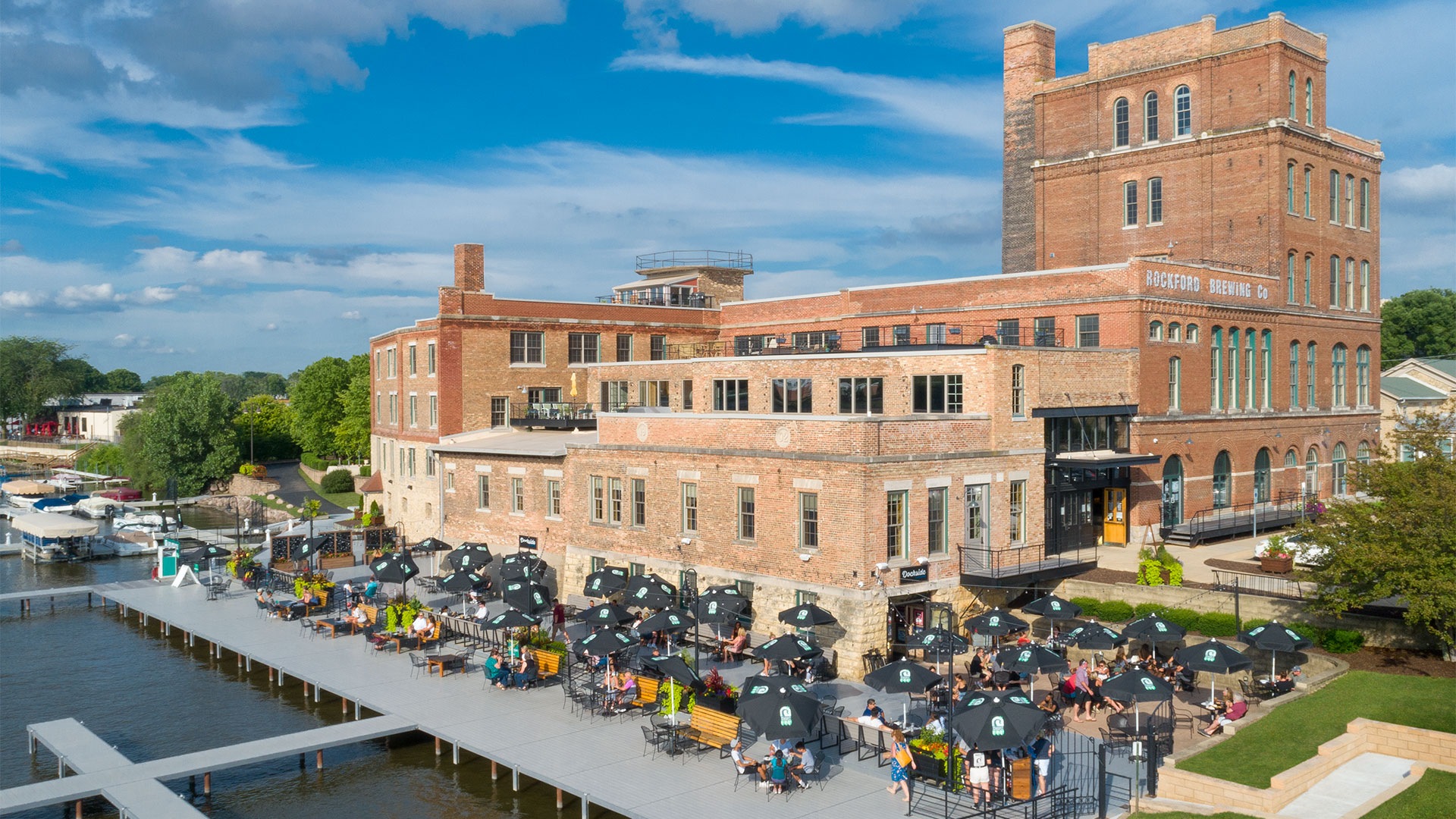 Historic preservation and design - Prairie Street Brewhouse dock and deck