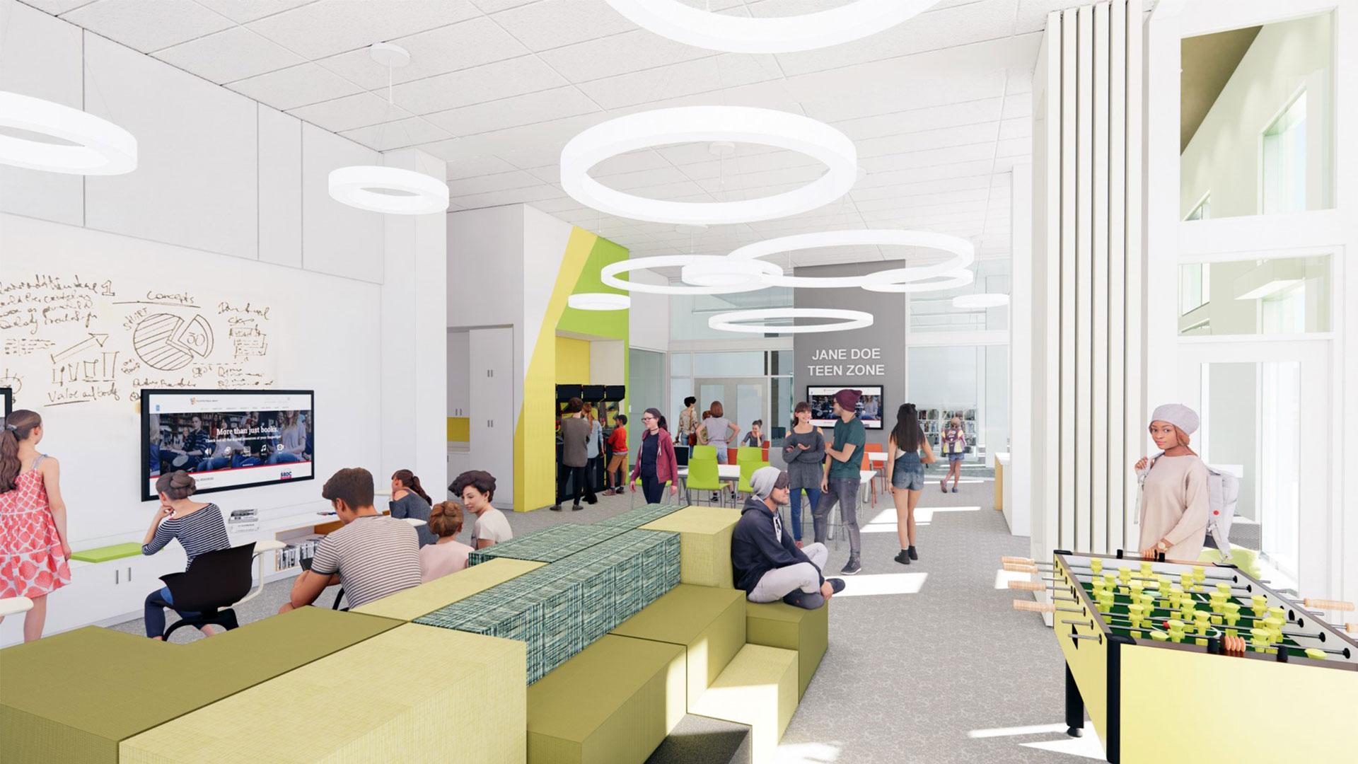 Interior design - Rockford Public Library