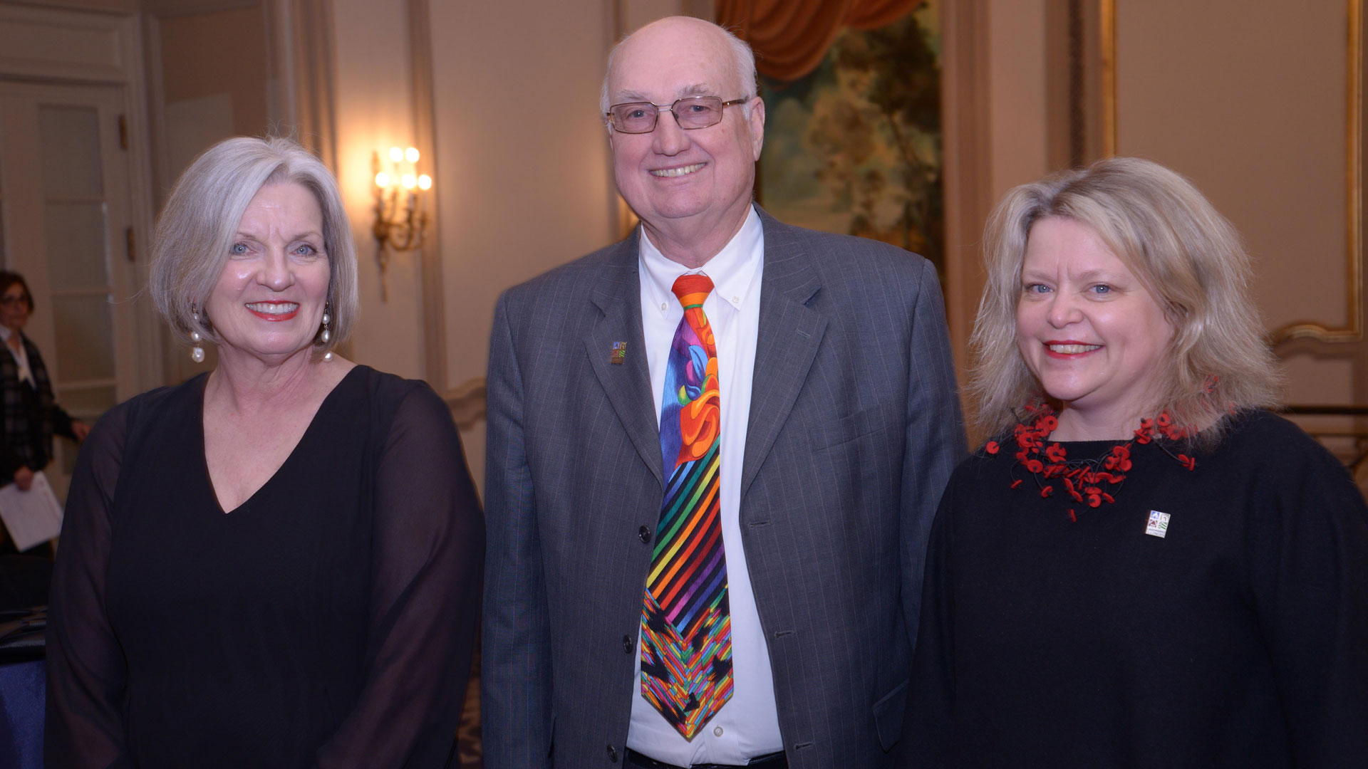 Image of Gary Anderson with Julie Carpenter and Anne Puotinen from Landmarks Illinois
